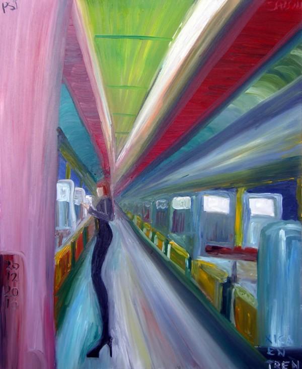 xica en tren